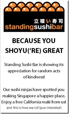 Do good with Standing Sushi Bar